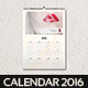 Clean Wall Calendar 2016 - GraphicRiver Item for Sale