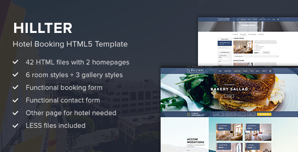 Hillter – Hotel Booking HTML5 Template