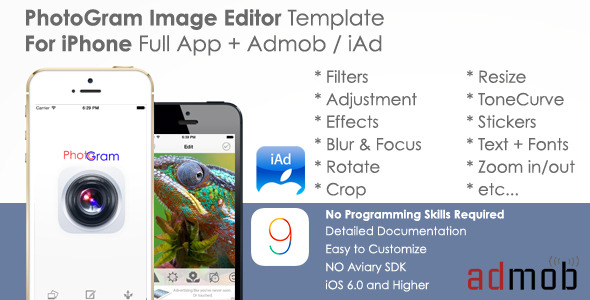 PhotoGram Full App Template for iPhone + Admob/iAd - CodeCanyon Item for Sale