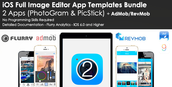 iOS Image Editor App Templates Bundle - AdMob/RevMob - CodeCanyon Item for Sale