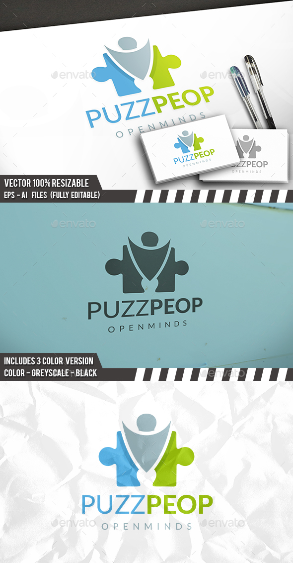 Puzzle People Logo - Humans Logo Templates