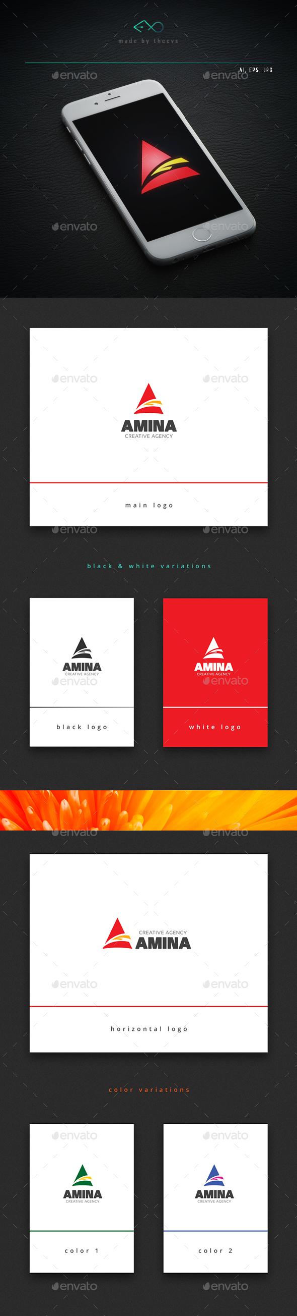 Amina - Letters Logo Templates