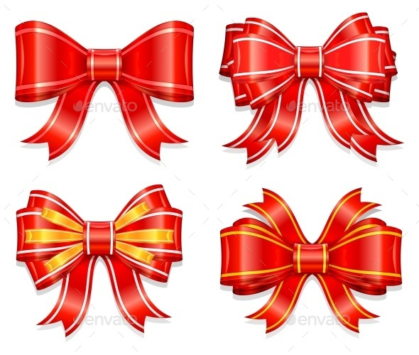 Red bows - Food Objects