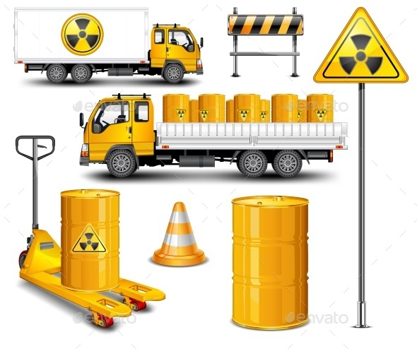 Transport with Radioactive Waste - Food Objects