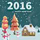 Happy New Year Flyers Bundle 2016 - GraphicRiver Item for Sale