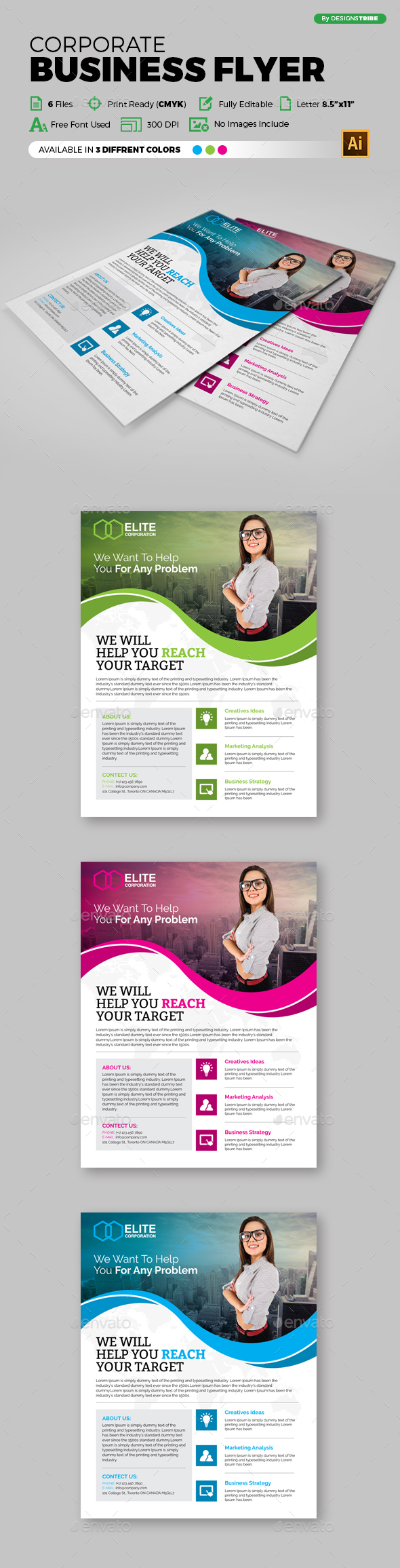Multipurpose Business Flyer 101 - Flyers Print Templates