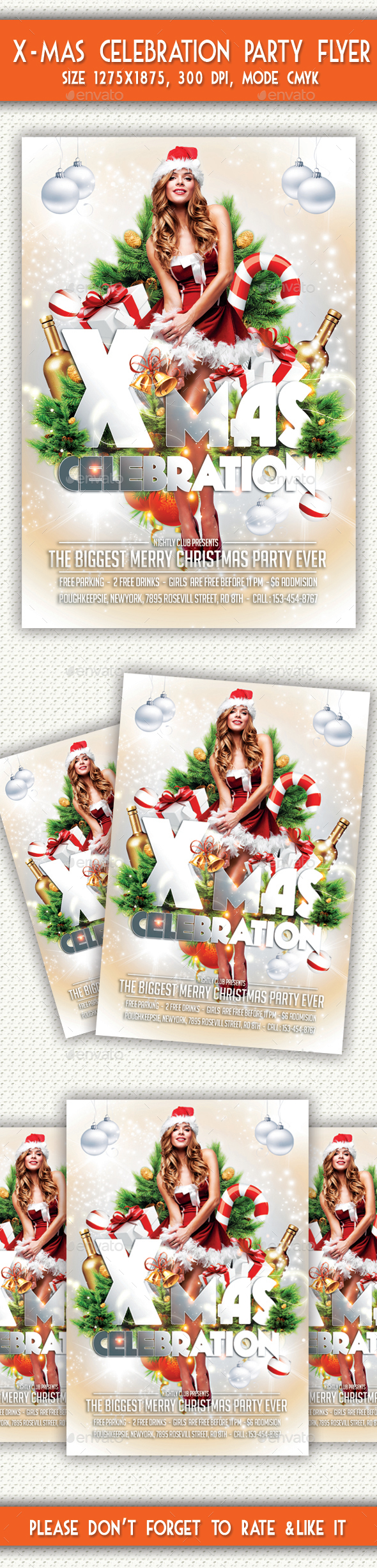 X-mas Celebration Party Flyer - Holidays Events