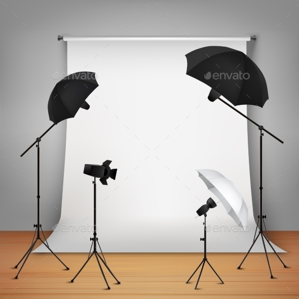 Photo Studio Design Concept - Decorative Symbols Decorative