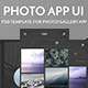 Photo App UI Kit - GraphicRiver Item for Sale