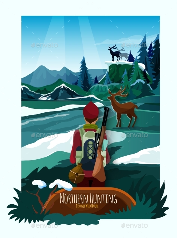 Nothern Landscape Nature Hunting Poster Print - Nature Conceptual