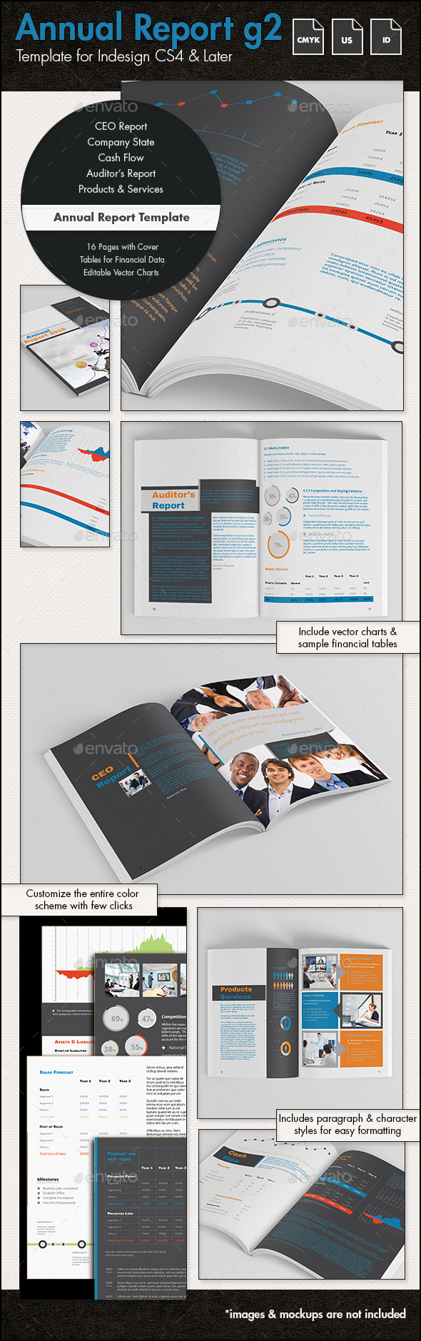 Annual Report Template g2 - US Letter - Informational Brochures