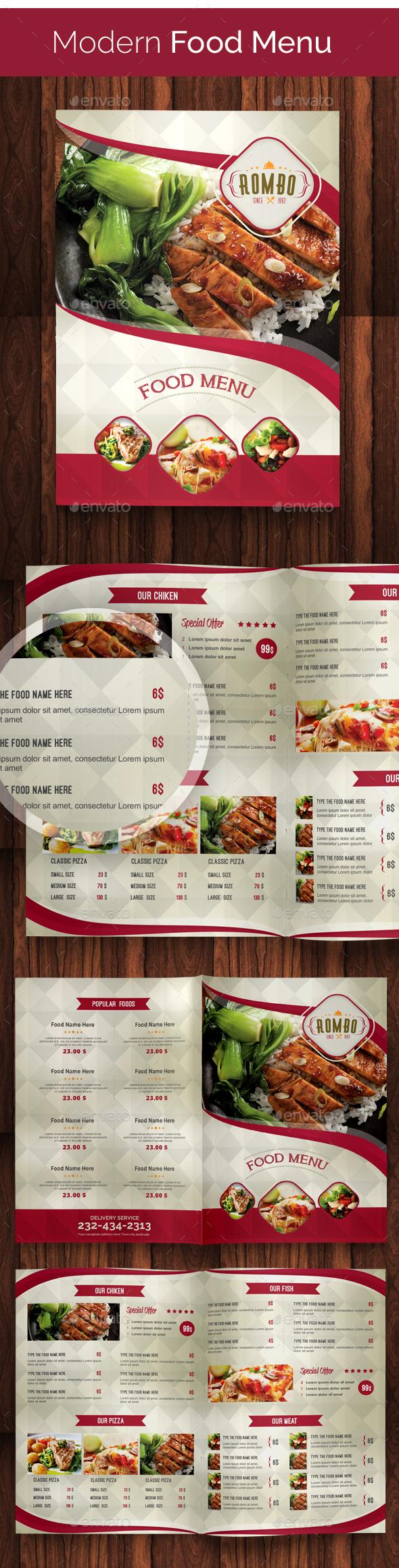 Modern Food Menu 02 - Food Menus Print Templates