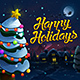 Happy Holidays Illustration - GraphicRiver Item for Sale