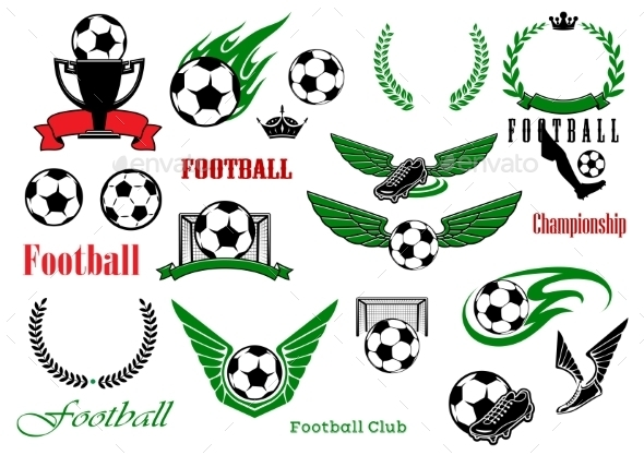 Football Or Soccer Sport Game Design Elements - Sports/Activity Conceptual