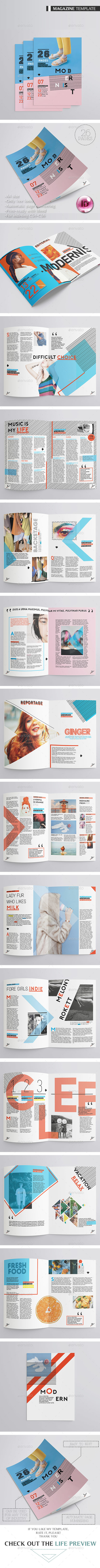 Modernist Magazine 26 pages - Magazines Print Templates