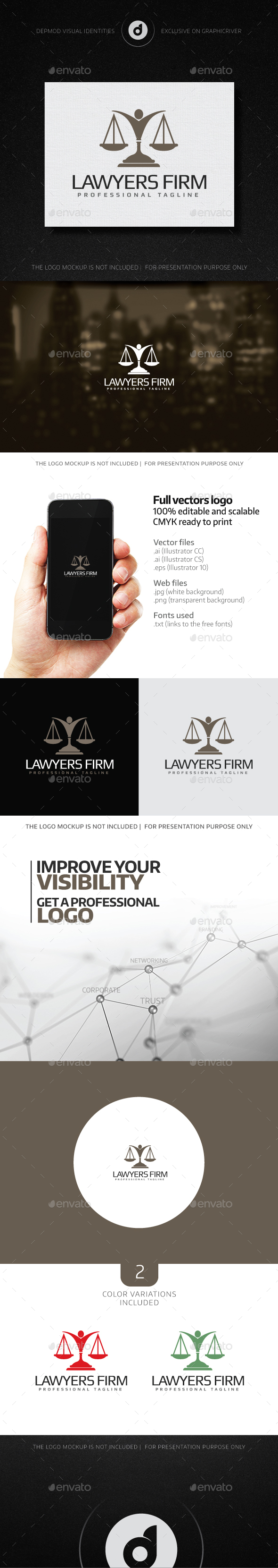 Lawyers Firm - Humans Logo Templates
