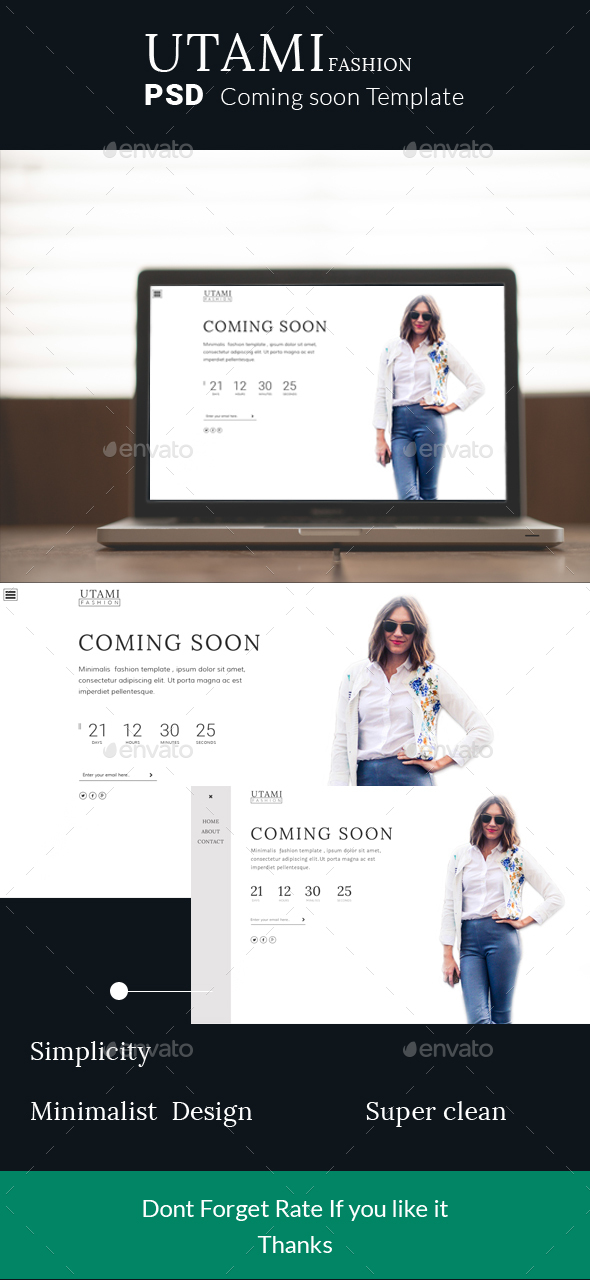 Utami coming soon fashion - 404 Pages Web Elements