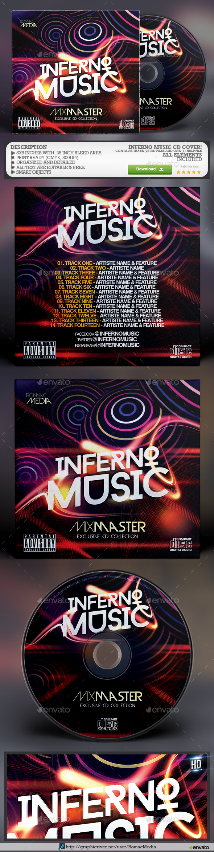Inferno Music CD Cover - CD & DVD Artwork Print Templates