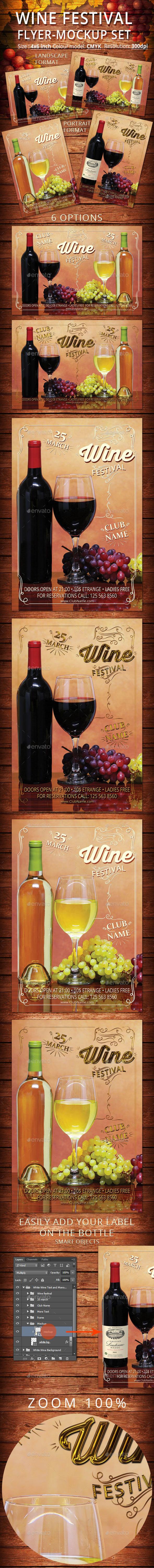 Wine Festival Flyer-Mockup Set - Events Flyers