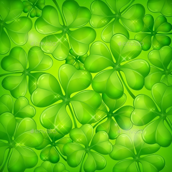 Clover Leaf Background - Food Objects