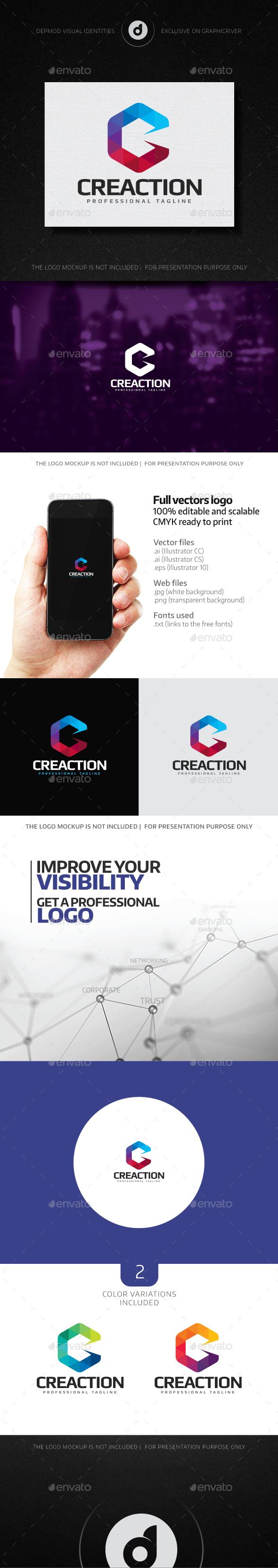 Creaction Logo - Letters Logo Templates