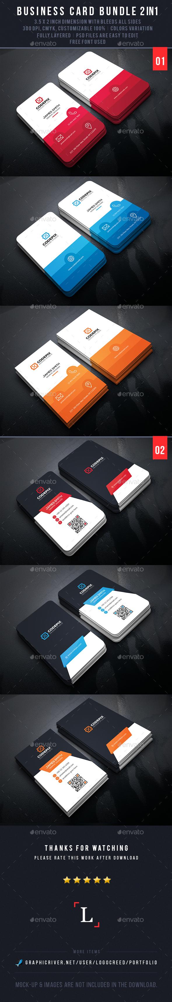 Colors Business Card Bundle - Business Cards Print Templates