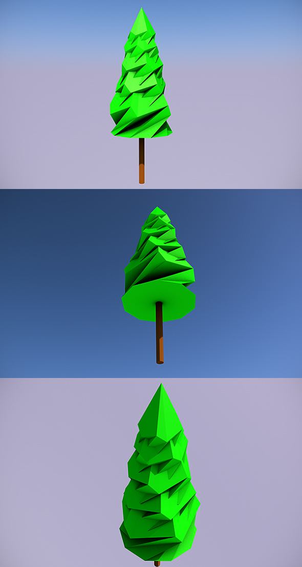 low poly tree 8 3docean item for sale - Polytree Christmas Tree
