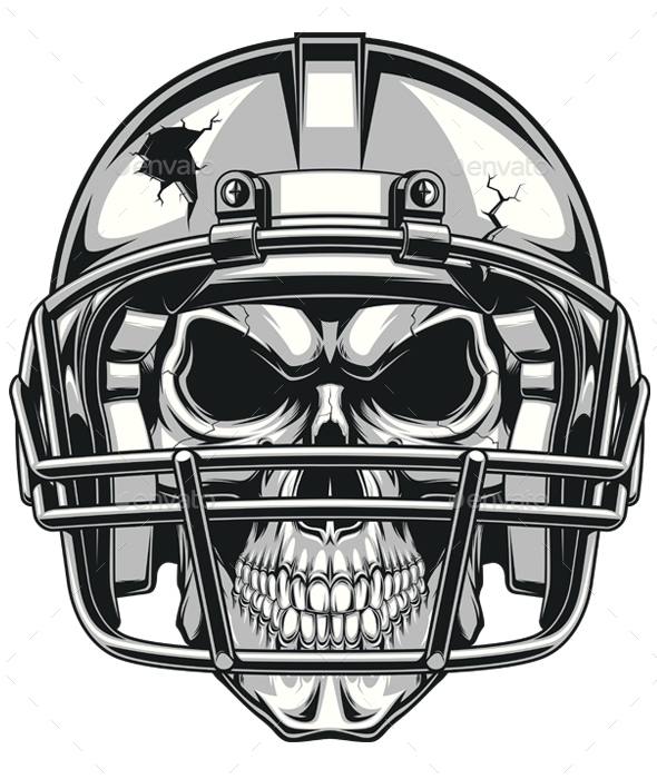Skull in Helmet - Sports/Activity Conceptual