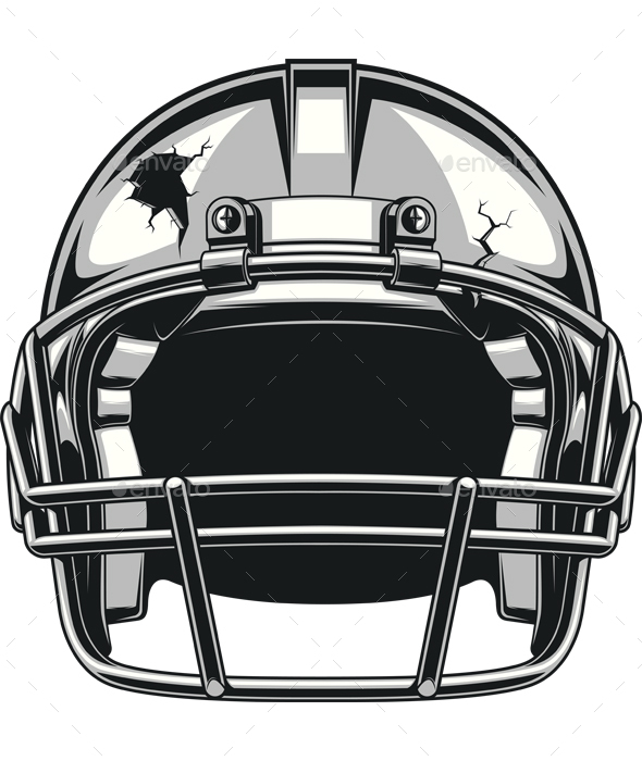 Helmet for Playing Football - Sports/Activity Conceptual