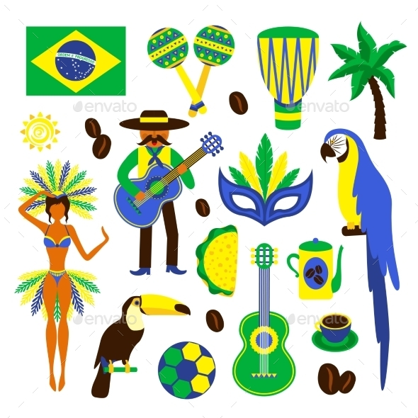 Brazil Decorative Set - Travel Conceptual