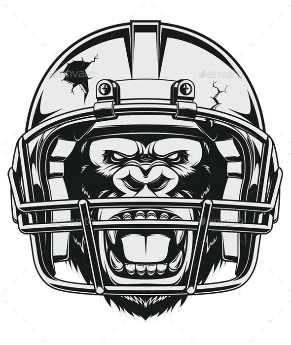 Aggressive Gorilla - Sports/Activity Conceptual