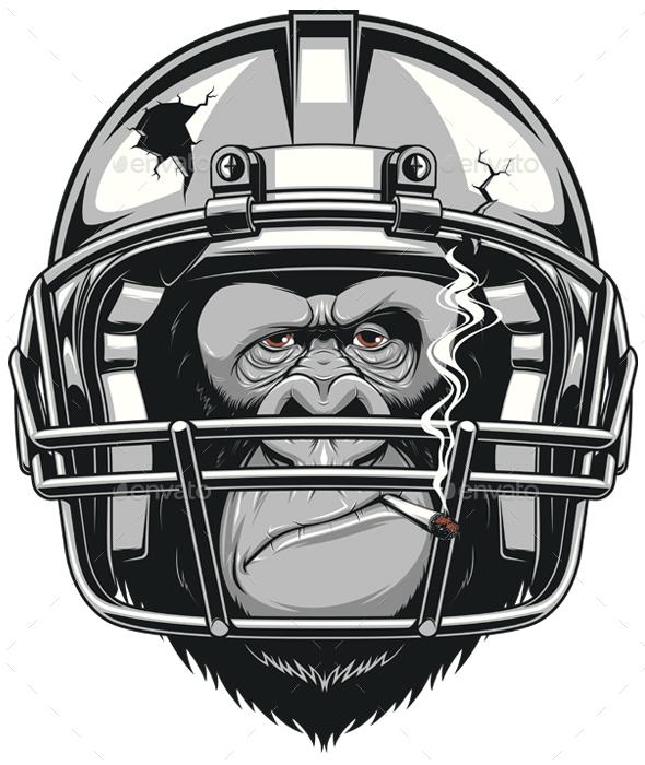 Funny Gorilla - Sports/Activity Conceptual