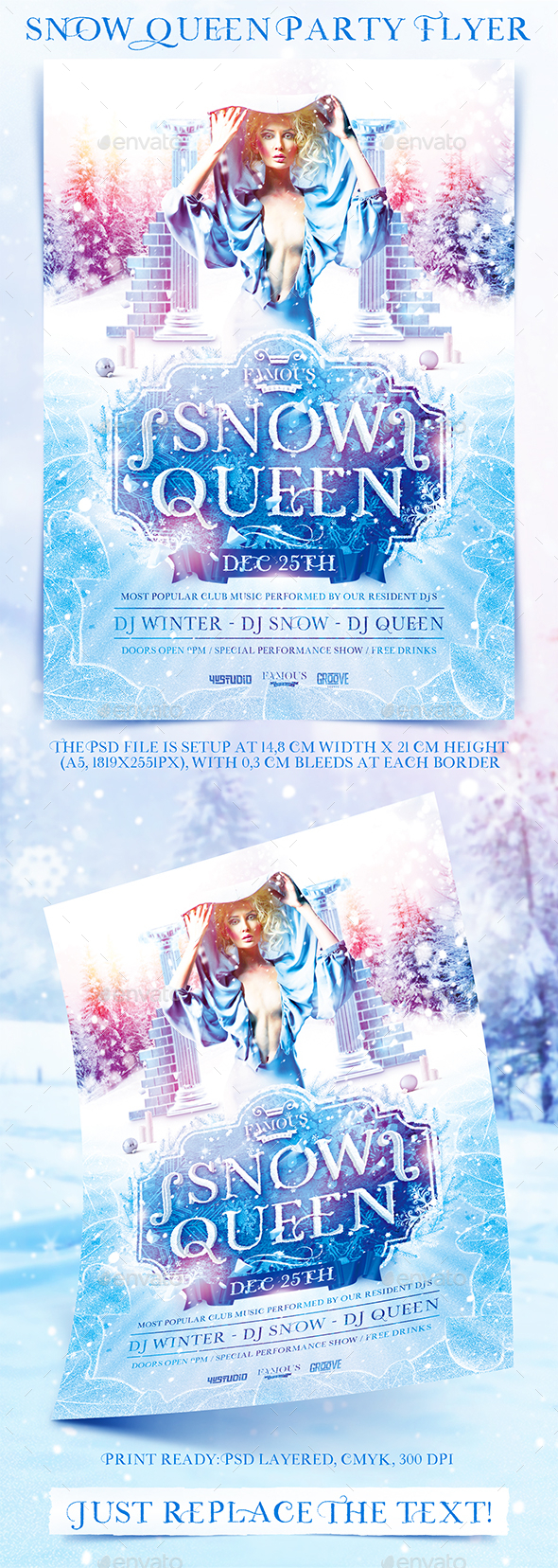 Snow Queen Party Flyer - Events Flyers