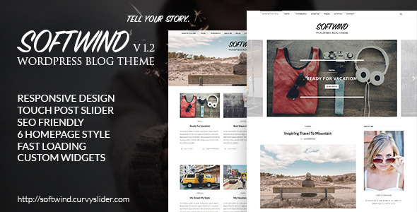 SoftWind - SEO Friendly WordPress Blog Theme
