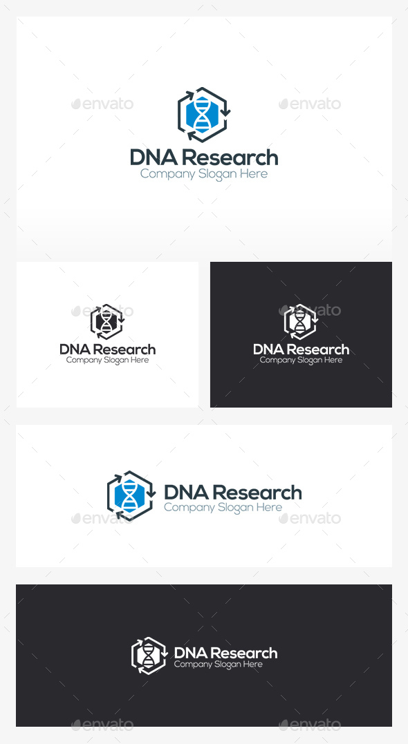 DNA Research Logo - Humans Logo Templates