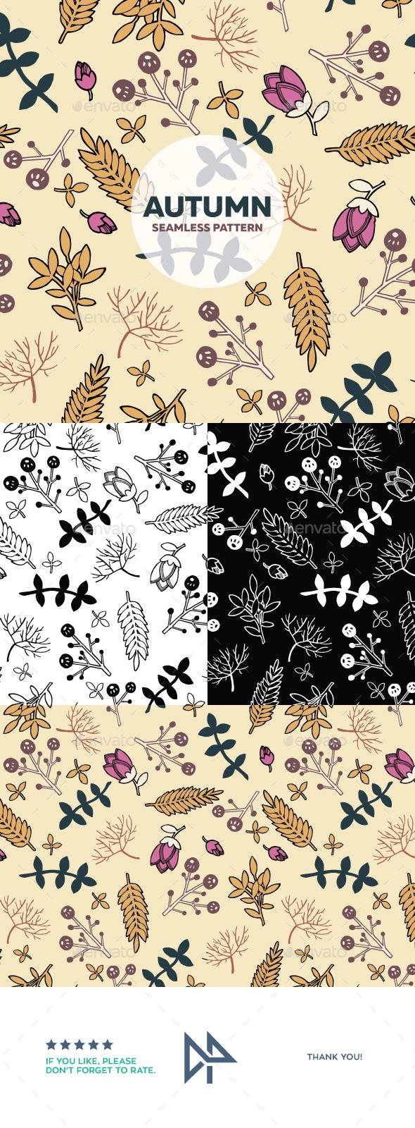 Autumn seamless pattern - Seasons Nature