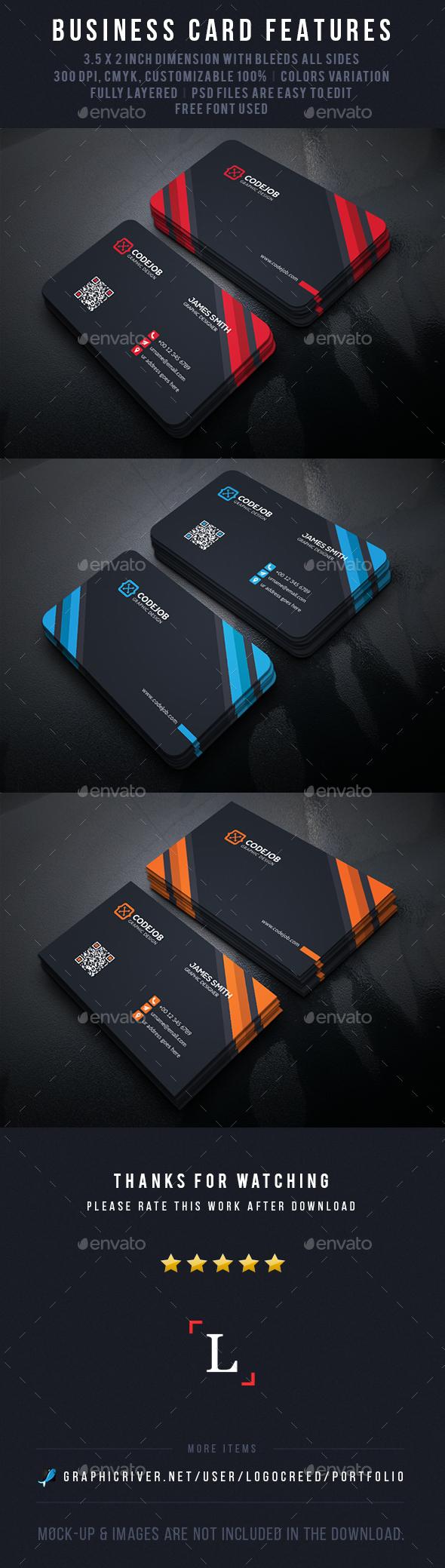 Dark Business Card - Business Cards Print Templates