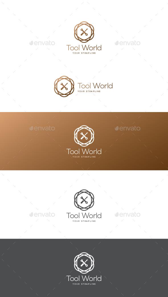 Tool World Logo - Objects Logo Templates