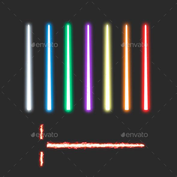 Glowing Lightsabers - Tech / Futuristic Backgrounds