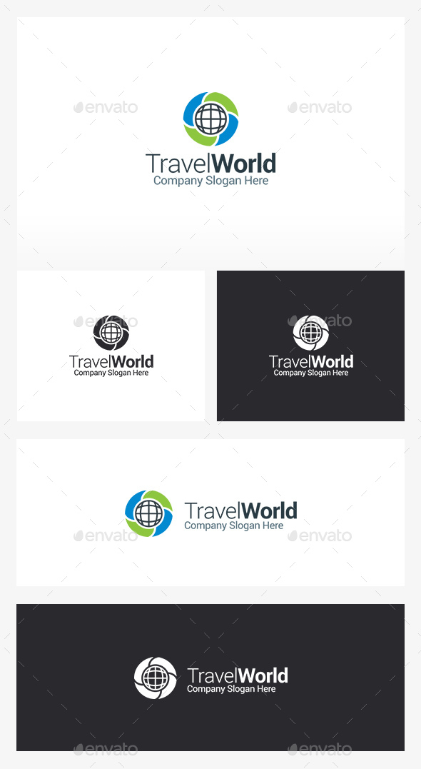 Travel Globe - Symbols Logo Templates