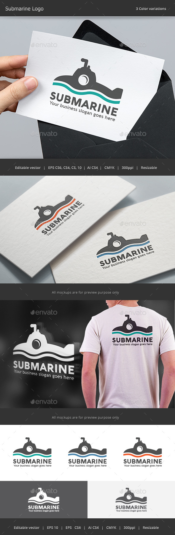 Submarine Logo - Objects Logo Templates