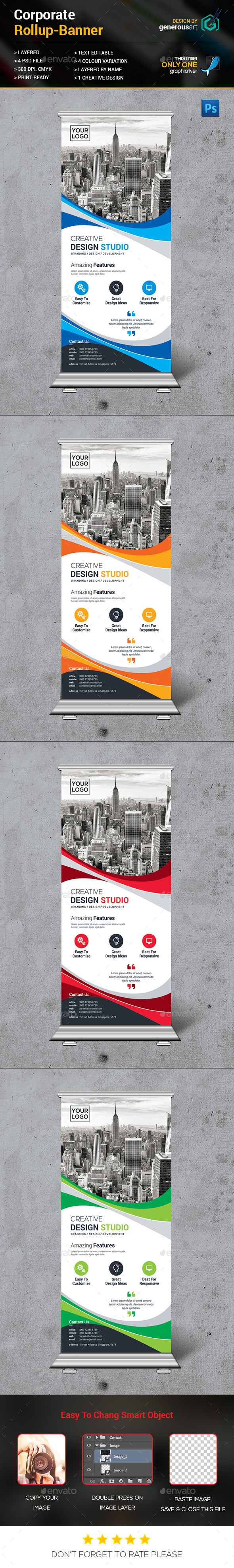 New Rollup Banner - Signage Print Templates