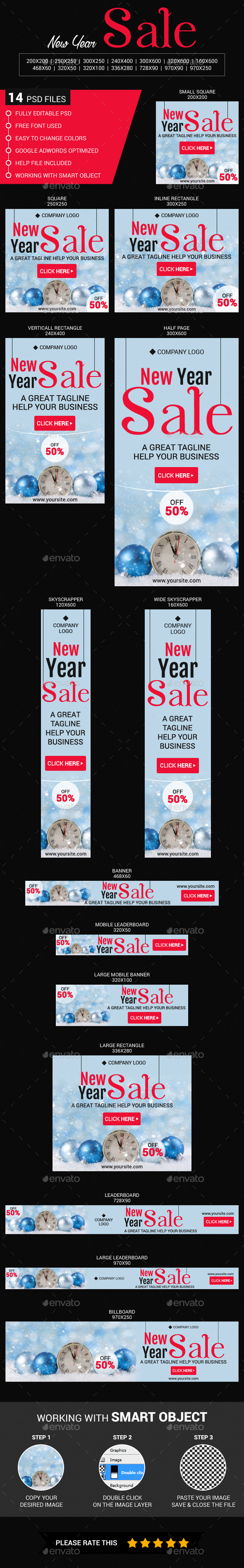 New Year Sale - Banners & Ads Web Elements