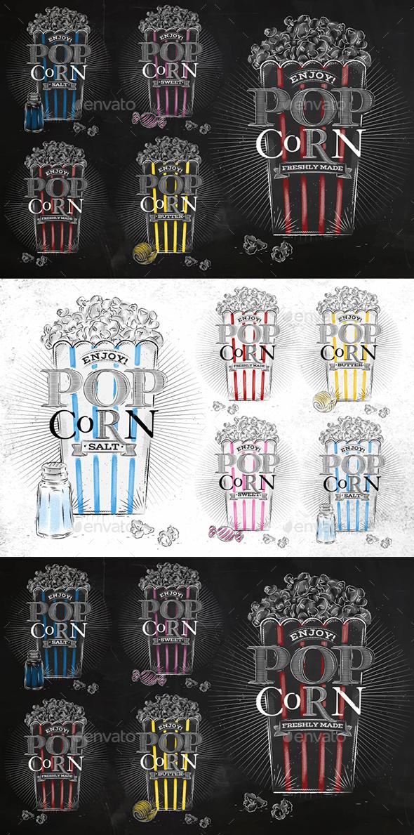 Popcorn Menu - Food Objects