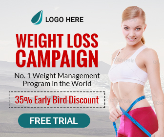 Health Fitness Weight Loss Banner 7 Sizes By Themesloud