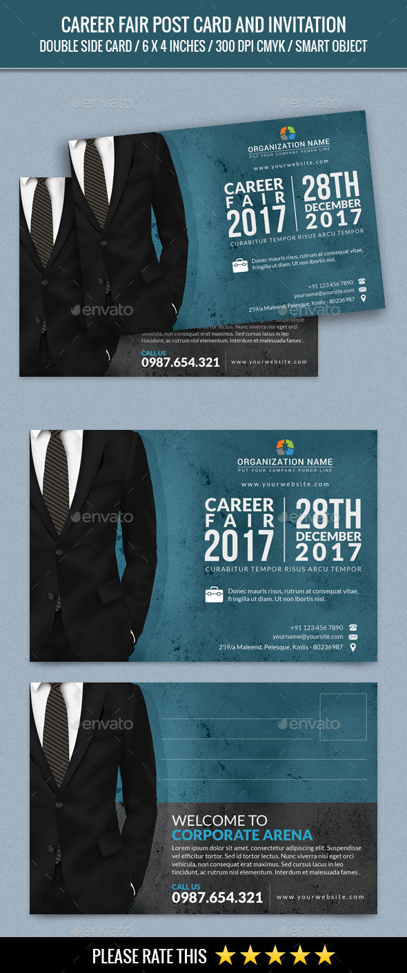 Career Fair Post Card - Cards & Invites Print Templates