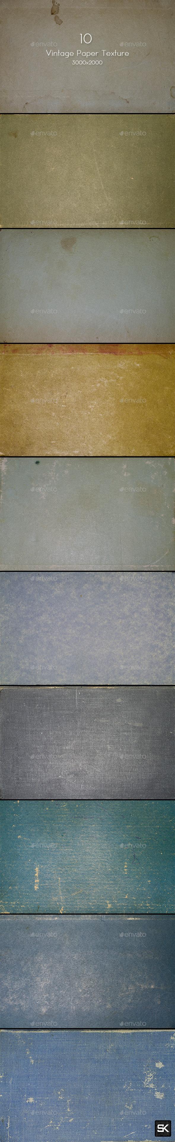 10 Vintage Paper Texture - Paper Textures