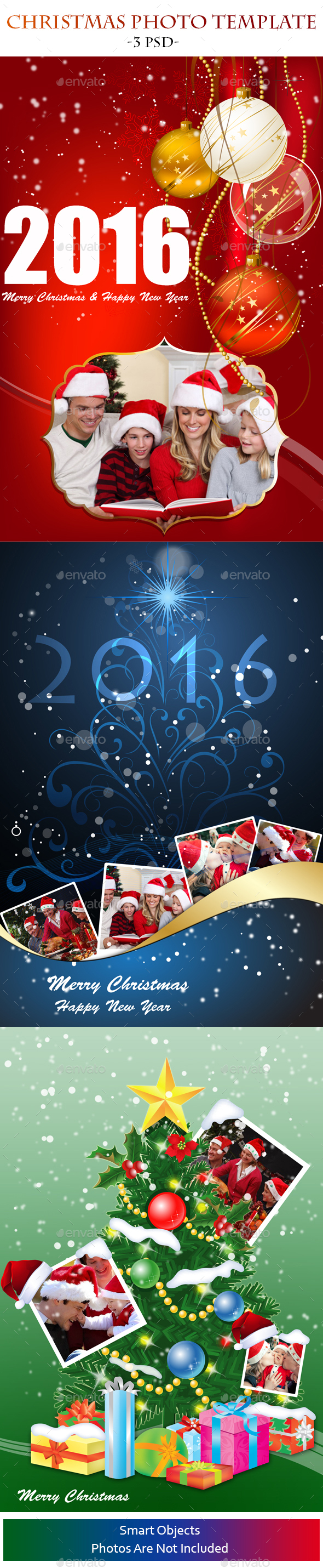 2016 New Year - Photo Templates Graphics