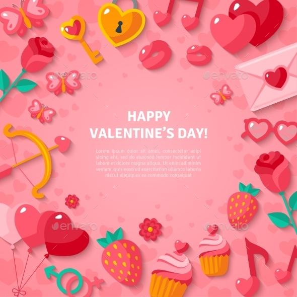 Happy Valentine's Day Background - Valentines Seasons/Holidays