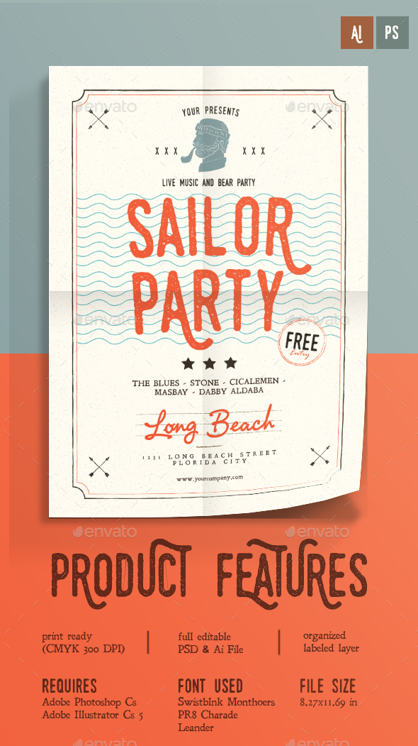 Sailor Party - Events Flyers